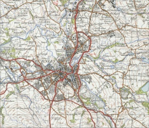 Burnley - ordnance survey snip
