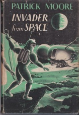 Dust jacket to Patrick Moore: Invader from Space