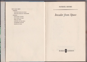 Books by Patrick Moore (as of September 1963)