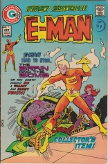 Cover to E-Man issue 1 before edits for color cast