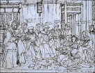 Thomas More Family Group by Hans Holbein, c 1527