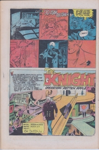 First page of The Knight - strip in E-Man #1