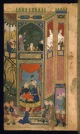 A Court Scene with Timur and his Maiden from Khwarezm