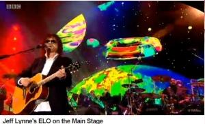 Another sneaky screenshot of Jeff Lynne's ELO - hey, go watch it