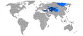 Turkic World - map of speakers