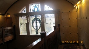 Elmbak Hotel window from stairwell