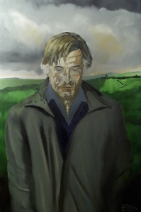 Ted Hughes with added gloom, after Reginald Gray (2004)