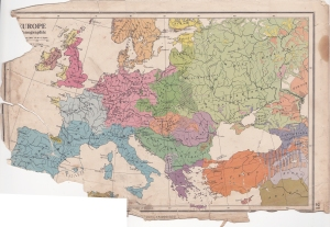 Citizen's Atlas: Ethnographic Map of Europe - 1944 edition.