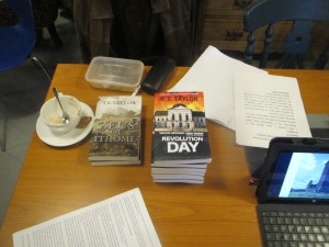 Book offering from Tim E Taylor: Revolution Day and Zeus of Ithome