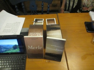Books by Angela Wren: Merle and Messandrierre author event The Gallery, Slaithwaite