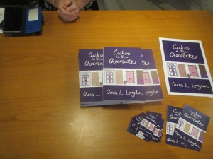 Cuckoo in the Chocolate by Chris L Longden - Author event Slaithwaite (promotional material)