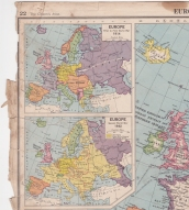 The Citizen's Atlas (Barthomew 8th edition, 1944) Map inset with a 1944 perspective on the shape of Europe