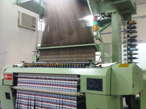 Muller Heat slit label loom