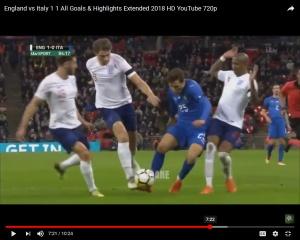 Chiesa-losing-balance still no contact Italy friendly penalty