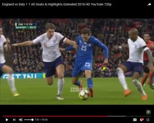 Chiesa-losing-control Italy friendly penalty