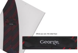 Label face from George tie