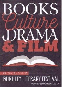 Burnley Literary Festival 2016 - Brochure front cover