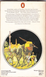 Thinkers of the East by Idries Shah back cover