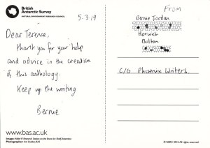 Thank you note from Bernadette