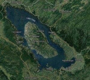 Lake Toba in Sumatra, Indonesia