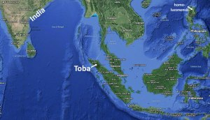 General location of Toba in South East Asia