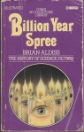 Billion Year Spree by Brian Aldiss, cover from 1975 Corgi edition