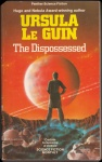 The Dispossed by Ursula Le Guin, cover from 1975 Panther edition